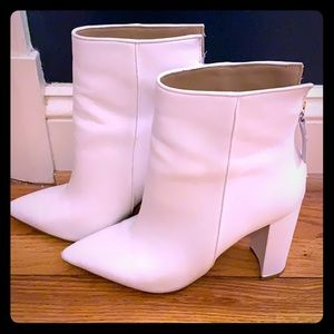 Steve Madden Trista White Booties